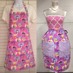 My Little Pony Aprons / MLP / Rarity / Apple Jack / Rainbow Dash / Fluttershy Apron