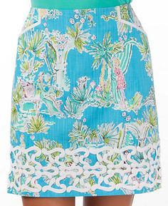 Roslyn Skirt, Lilly Pulitzer  The classic Roslyn in our conversational print of the season: Lilly State of Mind.
