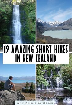 Looking for the best short hikes in New Zealand? NZ is a paradise for hikers with countless amazing hikes and tracks! Check out these 19 great short and easy hikes on the North Island and South Island of beautiful Aotearoa, the The Land of the Long White Cloud. Includes a printable map where to find the hikes, hiking duration and hiking advice. #NewZealand #hiking #tramping New Zealand Itinerary, New Zealand Travel Guide, North Island New Zealand, South Island, Amazing Destinations, Travel Destinations, New Zealand Holidays, New Zealand Landscape, Globe Travel