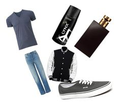 """""""Men"""" by keiramcevoy on Polyvore featuring T By Alexander Wang, Uniqlo, Vans and Valentino"""