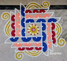 Easy Rangoli Designs Videos, Easy Rangoli Designs Diwali, Simple Rangoli Designs Images, Small Rangoli Design, Rangoli Ideas, Diwali Diy, Beautiful Rangoli Designs, Kolam Designs, Mehndi Designs