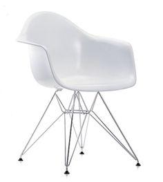 MONDO Plastik Stuhl, Retro Chair, Loft, Industrial Design, ABS Schale WEIß/Chrom in Möbel & Wohnen, Möbel, Stühle | eBay