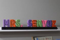 This is a custom name plate, hand made by a Kindergarten Teacher. If you are looking to give a meaningful gift that will last a lifetime, this is a great choice! They make great gifts for any occasion! Teacher Appreciation Day, Mothers Day, Fathers Day, Holidays, Decoration for Kids Rooms or as Home Decor. This gift is customized to order. Here are some ideas of things you can write and their prices: 1. First name only $75 2. Last name only $75 3. First and last name 4. Last name with…