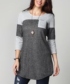 Look what I found on #zulily! Charcoal French Terry Raglan - Plus #zulilyfinds