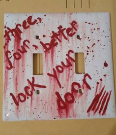 Check out this item in my Etsy shop https://www.etsy.com/listing/204785121/freddy-kruegrs-3-4-better-lock-your-door