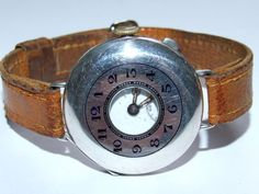 Stunning, Solid Sterling Silver Half Hunter Gents / Offices Trench Wristwatch