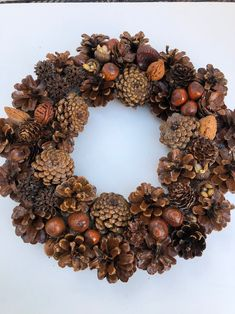 Excited to share this item from my shop: Welcome, Vintage pinecone wreath, hand-crafted welcome home, house sign, fron… Pine Cone Art, Pine Cone Crafts, Pine Cones, Autumn Wreaths, Christmas Wreaths, Christmas Decorations, Holiday Crafts, Holiday Decor, Handcrafted Gifts