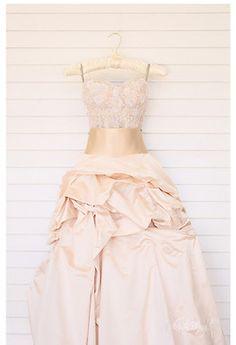 Beautiful nude pink wedding dress <3