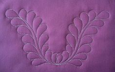Embroidery Machine Feather Border Quilting Designs