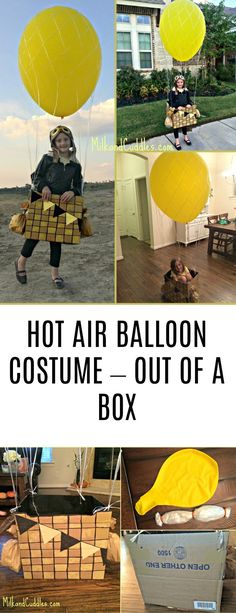 Everyday Best shares a tutorial on how to make a hot air balloon costume out of a box. Homemade Halloween, Halloween Costumes For Kids, Halloween Ideas, Travel Themes, Hot Air Balloon, Creative Crafts, Diy Tutorial, More Fun, Diys