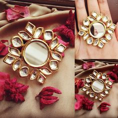 Stunning Adjustable Kundan Ring