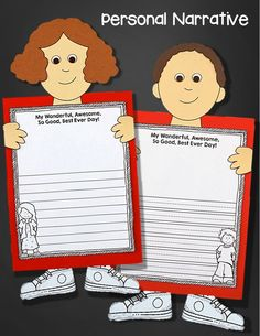 Writing personal narratives (My Wonderful, Awesome, So Good, Best Ever Day!) while teaching with Alexander and the Terrible, Horrible, No Good, Very Bad Day. Pack includes 6 writing prompts for opinion, persuasive, expository, and personal narrative writing.$