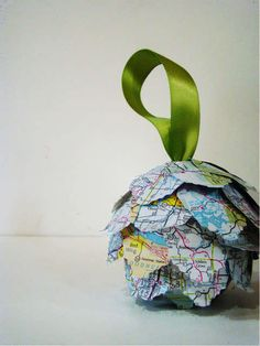 Map Ornaments #Map #Christmas #Ornaments