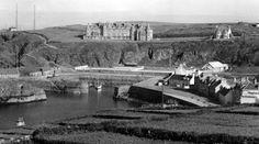 Tour Scotland Photographs: Old Photograph Harbour, Portpatrick, Dumfries and Galloway, Scotland