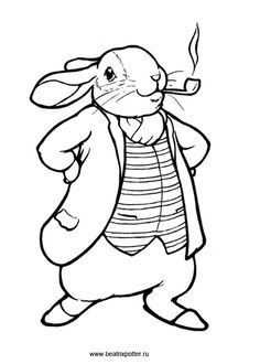 benjamin bunny coloring pages - photo#26