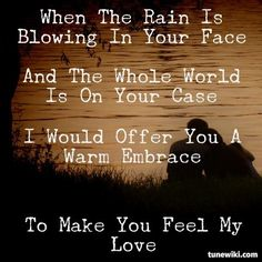 Make You Feel My Love by Garth Brooks (This song brings back such fond memories)