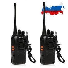 2 PCS Baofeng BF-888S Walkie Talkie 5W Handheld Pofung bf 888s  UHF 400-470MHz 16CH Two-way Portable CB Radio(China)