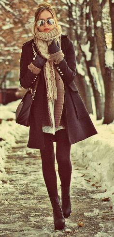 Stylish Ways to Wear Leggings in winter45