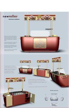 Carrito helados Carte d'Or. Diseño Industrial