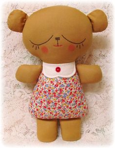 EASY Teddy Bear Pattern, Plush Toy Pattern, Softie Pattern, Soft Toy Pattern, Stuffed Animal Pattern, Rag Doll Pattern, PDF Sewing Pattern,. $10.00, via Etsy.