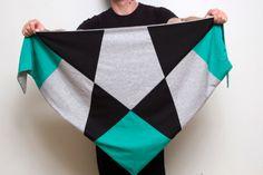 Triangle Scarves – Tuch YOCOO schwarz und so – a unique product by 5000Gentlemen on DaWanda