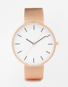 Buy ASOS Minimal Mesh Large Face Watch at ASOS. With free delivery and return options (Ts&Cs apply), online shopping has never been so easy. Get the latest trends with ASOS now. Asos, Large Face Watches, Jewelry Accessories, Women Jewelry, Crown Jewels, Things To Buy, Gold Watch, Jewelry Necklaces, Accessories