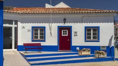 Hiking Rota Vicentina in Portugal - via TravellerAU 09.01.2015 | Hiking Portugal's Rota Vicentina packs in more than a few surprises Photo: A house in the colours of the coast at Porto Covo, Alentejo, Portugal