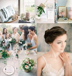 Powder Blue Blush Gold for Wedding Colors