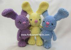 Amigurumi To Go: Little Bigfoot Bunny Revised 2014 Amigurumi Video Tutorial ༺✿ƬⱤღ  http://www.pinterest.com/teretegui/✿༻