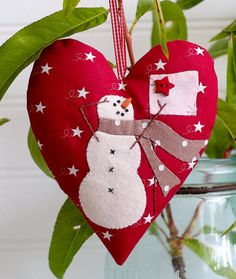 Snow Happy Hearts Join me in our Snow Happy Hearts Club for 2015.  You'll get a head start on Christmas decorating and have 12 snowmen ornaments completed by December.  You'll find a new heart patt...