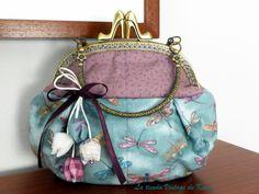 Bolso de mano con boquilla -Libélula- de La Tienda Vintage de Kima por DaWanda.com