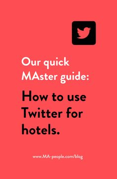 This week we are sharing with you how to engage your guests via the little blue bird. Whether you are running a global hotel chain or a small boutique resort, this quick Twitter Master guide is a must-read for you. #HotelMarketing #SocialMedia #Twitter #SocialMediaMarketing #HotelConsulting #MApeople Sales Strategy, Blue Bird, Social Media Marketing, Running, Boutique, Chain, Twitter, Keep Running, Why I Run