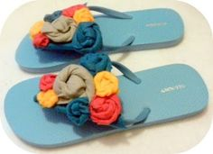 A Couple of Craft Addicts: Flip Flop Fun Series - Velcro Felt Embellishments