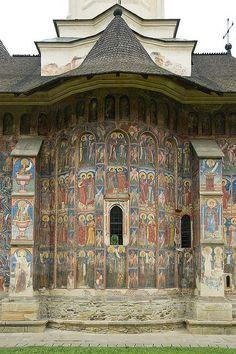 The monastery of Moldovita, in Bukovina, Romania