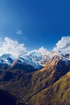 Snow Summer Blue Mountain Sky Cloud Nature #iPhone #4s #wallpaper