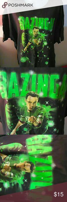 BAZINGA big bang theory tee xl mens Men's XL tee, big bang theory Sheldon Ripple Junction, Big Bang Theory Shirts Tees - Short Sleeve