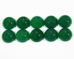 Gemstones Wholesale Gemstones Loose gemstones 10 Green Agate Oval Cabochons 7x5mm Gemstones 8.40 carat