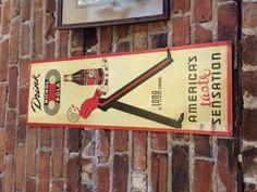Vintage soda sign.