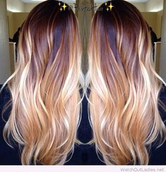 Ombre long hair color inspire