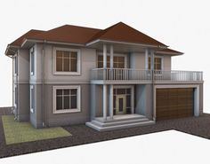 Building 003 Model in Buildings 3d Architecture, 3d Building, Shed, Outdoor Structures, Cabin, Mansions, House Styles, Model, Buildings