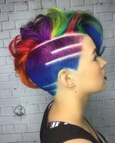 Rainbow hair delight.                                                                                                                                                                                 More
