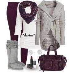 Magenta and Grey