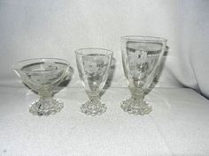 Vintage Intaglio Flower Design Berwick Boopie Stemware from mygrandmotherhadone on Ruby Lane