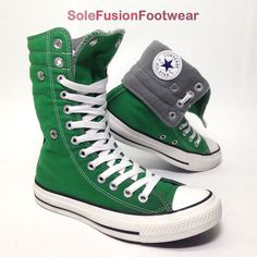 3892561fc6cf Converse Womens All Star High Top Trainers Green Size 3 X Hi Girls BOOTS 35  US 5 for sale online