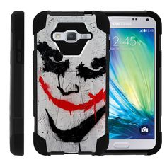 Samsung Galaxy J3 Slim Case, Amp Prime Kickstand Case, Express Prime Case [SHOCK FUSION] Slim Fitted Silicone Heavy Duty Cover Kickstand Defender Case by Miniturtle® - Joker