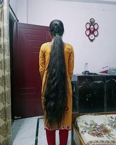 Long Ponytail Hairstyles, Long Ponytails, Braids For Long Hair, Indian Hairstyles, Down Hairstyles, Long Silky Hair, Long Black Hair, Super Long Hair, Indian Hair Cuts