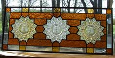 Sunflower Transom by BarbarasStainedGlass on Etsy