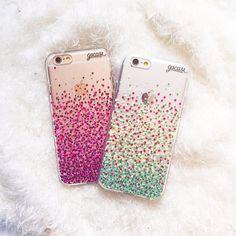 Faça seu smartphone brilhar! {cases: pink dots e spring dots} [DISPONÍVEIS PARA IPHONES GALAXY E MOTO G] #gocasebr #instagood #iphonecase #phonecase #pink #spring #dots #voudegocase