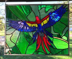 Scarlet Macaw - Delphi Artist Gallery Delphi Glass, Artist Gallery, Scarlet, Parrot, Painting, Parrot Bird, Painting Art, Paintings, Scarlet Witch