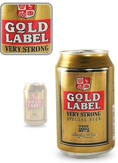 Cerveja Whitbread Gold Label, estilo Barley Wine, produzida por Samlesbury, Inglaterra. 10% ABV de álcool.